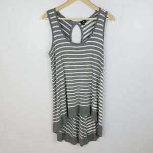Cable & Gauge size L sleeveless grey and white str